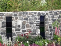 Bloom Festival in Dublin - decorative stone wall built by Old Craft General Building, Dublin, Ireland