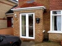 Front porch built by Old Craft General Building, Dublin - for all your home building needs including extensions, brickwork, arches & attic conversions.