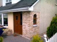 New brick fronted porch in Balbriggan, Finglas, County Dublin built by Old Craft General Building, Ireland